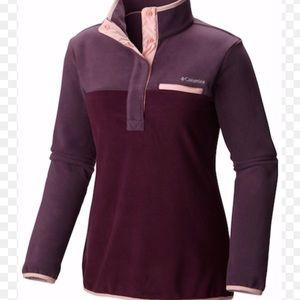 Columbia Purple Color Block Fleece